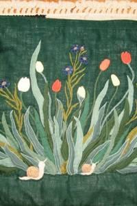 Tulipános-búzavirágos falvédő